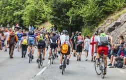 Le环法自行车赛观众  免版税库存图片