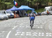 Le环法自行车赛路的非职业骑自行车者 库存图片
