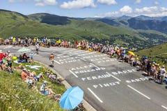 Le环法自行车赛路  图库摄影