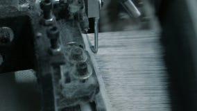 Le ¡ de Ð perdent- de la création de processus de tissu sur un métier à tisser de tissage moderne dans une usine banque de vidéos