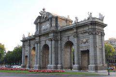 Le ¡ de Puerta de Alcalà à Madrid images libres de droits