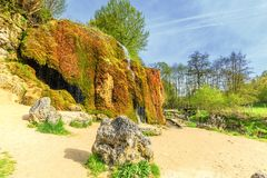 Le ¼ d'Eifel Dreimà d'Allemand de paysage hlen la cascade images stock