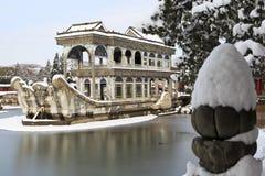 Le ¼ de marbre d'ï de bateau le ¼ Chine de Palaceï d'été Photos libres de droits