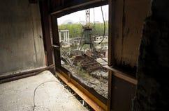 Le 5ème bloc non fini de la centrale nucléaire de Chernobyl Photo stock