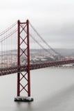 Le 25ème du pont d'avril, Lisbonne Image libre de droits