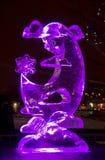 Le 20ème festival international de sculpture en glace dans le Jelgava Lettonie Photographie stock