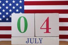 le 4ème juillet - Jour de la Déclaration d'Indépendance Photo libre de droits