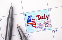 le 4ème juillet, Jour de la Déclaration d'Indépendance, Photo stock