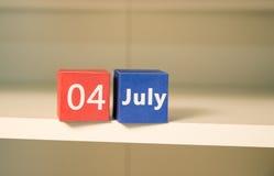 le 4ème juillet, le Jour de la Déclaration d'Indépendance des USA, endroit à faire de la publicité, vacances américaines Images libres de droits