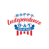 le 4ème juillet Vecteur heureux de Jour de la Déclaration d'Indépendance Quatrième de conception de salutation de juillet illustration libre de droits