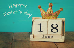 le 18ème juin Father& x27 ; concept de jour de s Images stock