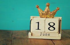 le 18ème juin Father& x27 ; concept de jour de s Photographie stock