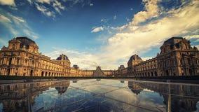 Le Лувр в Париже Стоковая Фотография RF