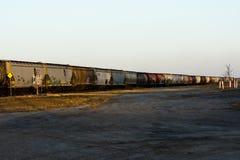 Le Прерия, пункт Саскачевана исчезая стоковая фотография rf