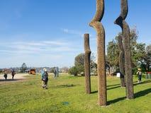 """Le """"mi défi de la vie """"est une illustration sculpturale par Ben Carroll à la sculpture par les événements annuels de mer libres a photographie stock"""