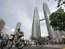 le 2009 Tour de Langkawi, Kuala Lumpur, Malesia. Fotografie Stock Libere da Diritti