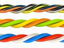 Le 3d câble n'importe quelle couleur au-dessus de blanc Images libres de droits