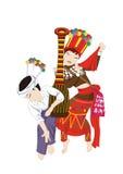 Le abitudini delle gente e dei costumi del cittadino cinese royalty illustrazione gratis