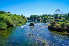 Le acque frizzanti dei fiumi Fotografia Stock Libera da Diritti