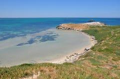 Le acque sbalorditive dell'isola del pinguino Fotografia Stock Libera da Diritti