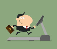 Le affärsmannen Cartoon Character Fotografering för Bildbyråer