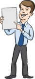 Le affärsmannen som står och pekar fingret på mellanrumet bo royaltyfri illustrationer