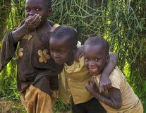 Le afrikanska barn Arkivbilder