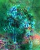 Le alghe sottraggono da Niantic, Connecticut, preso con un microscopio di polarizzazione Immagini Stock