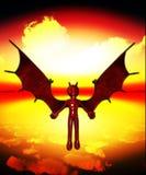 Le ali della malvagità Fotografie Stock Libere da Diritti