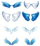 Le ali hanno impostato Immagini Stock