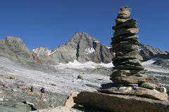 Le alpi Immagine Stock