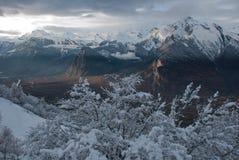 Le alpi al tramonto Fotografia Stock