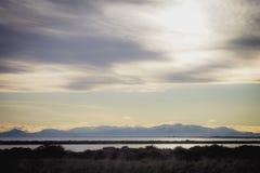 Le alpi del sud della Nuova Zelanda Immagini Stock