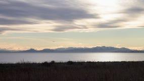 Le alpi del sud della Nuova Zelanda Fotografia Stock