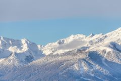 Le alpi della catena di montagna della neve abbelliscono Tirol del sud Italia Immagine Stock