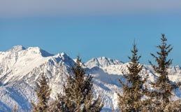 Le alpi della catena di montagna della neve abbelliscono Tirol del sud Italia Fotografia Stock Libera da Diritti