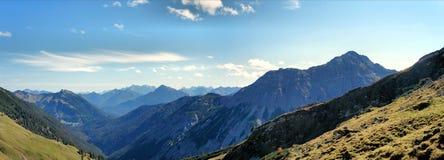 Le alpi di Allgaeu nel Tirolo, Austria Fotografie Stock Libere da Diritti