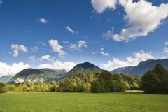 Le alpi di Julian in Slovenia - wiev da Bovec Immagine Stock