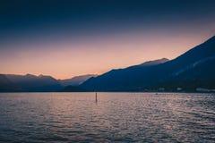 Le alpi ed il lago Como in Italia Immagine Stock Libera da Diritti
