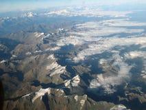 Le alpi europee dall'aria Immagini Stock