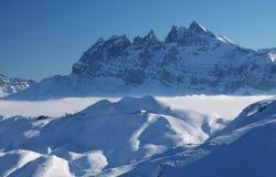 Le alpi francesi Fotografia Stock