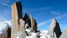 Le alpi francesi si avvicinano a Chamonix-Mont-Blanc Fotografia Stock Libera da Diritti