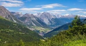 Le alpi italiane sceniche Fotografia Stock Libera da Diritti