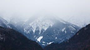 Le alpi nebbiose Fotografie Stock
