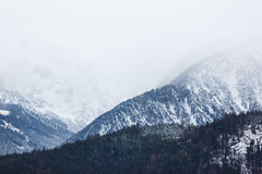 Le alpi nebbiose Fotografia Stock Libera da Diritti