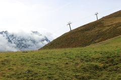Le alpi nel Tirolo, Austria Fotografia Stock