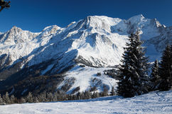 Le alpi nell'inverno Immagine Stock