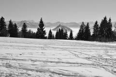 Le alpi nell'inverno L'Austria, Europa Fotografia Stock