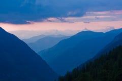 Le alpi osservano dall'alta strada alpina di Grossglockner Immagine Stock Libera da Diritti