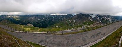 Le alpi osservano dall'alta strada alpina di Grossglockner Fotografia Stock Libera da Diritti